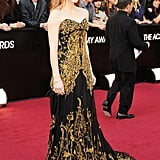 Jessica Chastain wore Alexander McQueen at the Oscars.