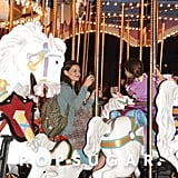 Katie Holmes rode a carousel with Suri.