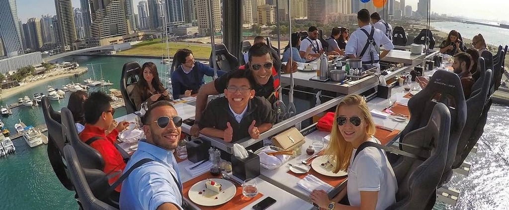 Dinner in the Sky Is the EPIC Adventure That Suspends You Hundreds of Feet in the Air