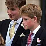 Will and Harry suited up for the wedding of Sophie Rhys-Jones and Prince Edward in June 1999.