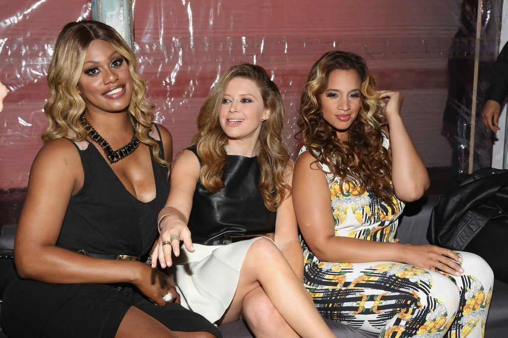 Laverne Cox, Natasha Lyonne, and Dascha Polanco hung out backstage at | Orange Is the New Black Cast Red Carpet Pictures | POPSUGAR Celebrity Photo 17