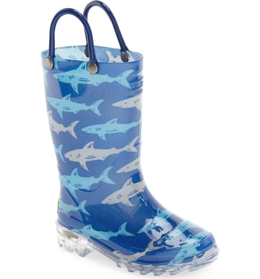 Deep Sea Sharks Light-Up Rain Boot