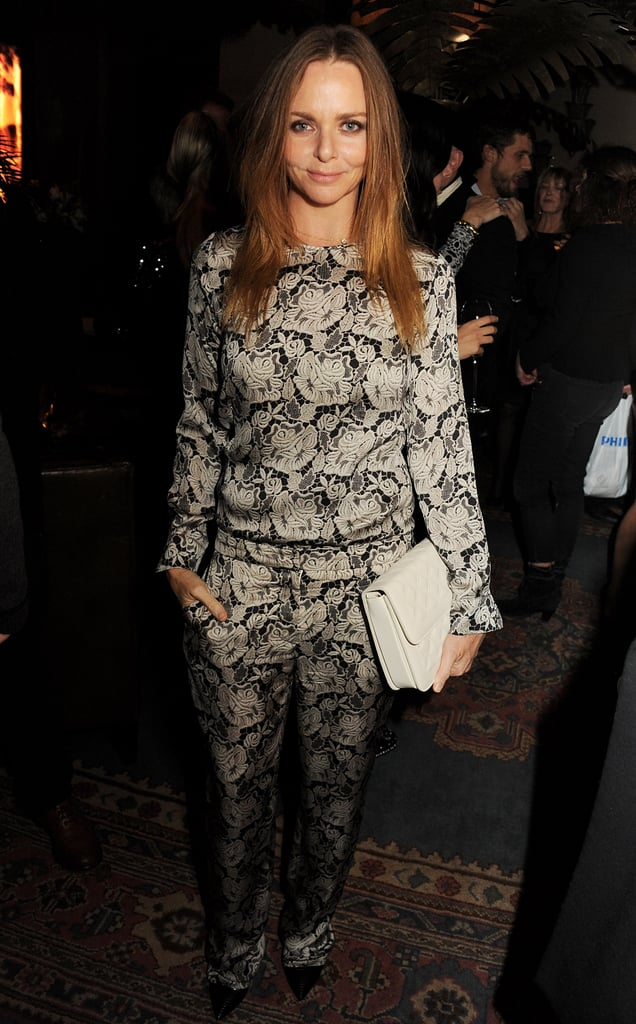 Stella McCartney arrived at Kate Moss's book-launch afterparty in London.