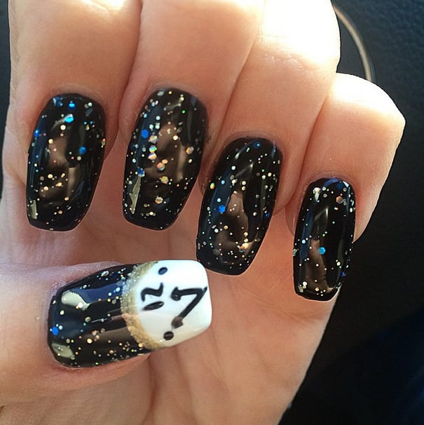 Countdown Clock New Years Eve Nail Art Ideas Popsugar Beauty