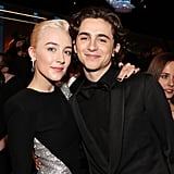 Pictured: Saoirse Ronan and Timothée Chalamet