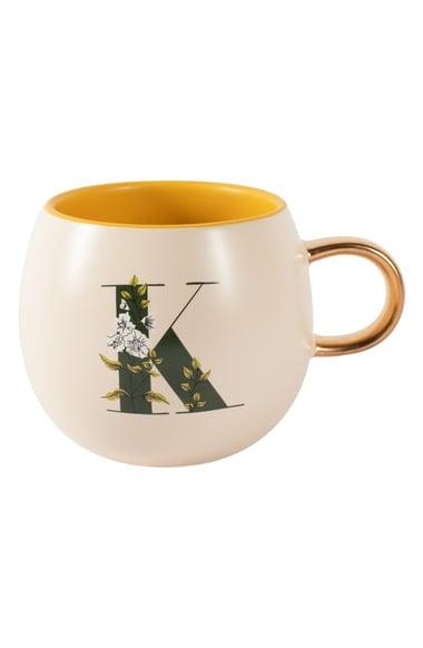 Fringe Studio Floral Monogram Mug