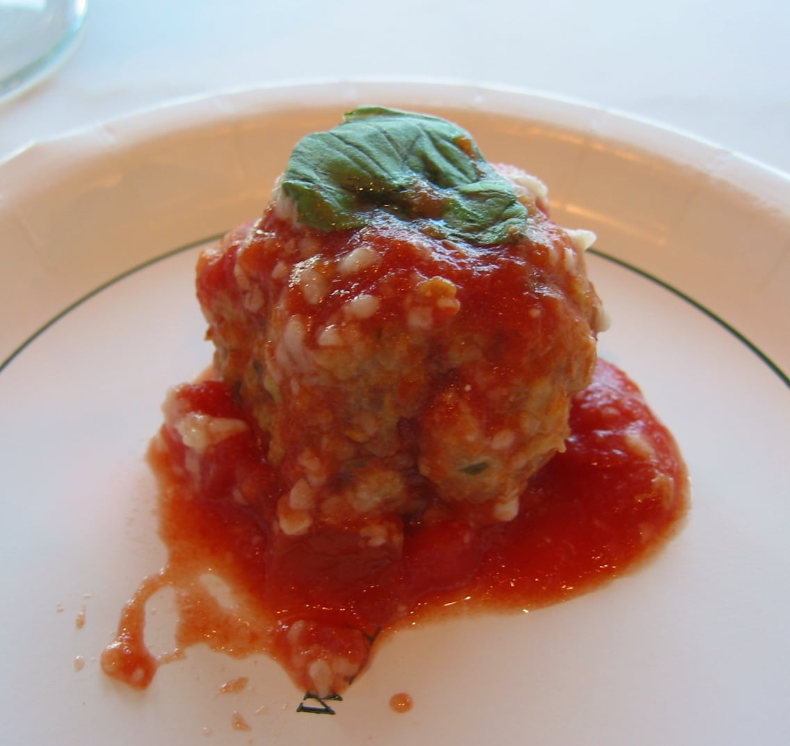 The Monday Meatballs absorbed the flavor of the San Marzano tomato sauce.