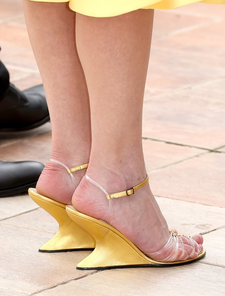 She Also Wore Standout Salvatore Ferragamo Wedges