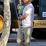 Owen Wilson gave his son, Robert Ford Wilson, a lift.