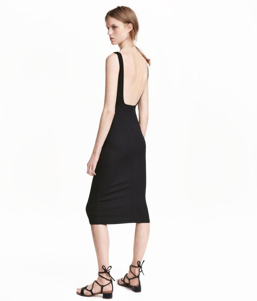 7c930a1375 H M Ribbed Jersey Dress ( 35)