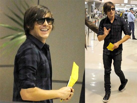 Photos of Zac Efron at Narita Airport in Japan