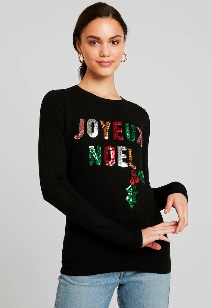 Fashion Union Christmas Joyeux Noel Jumper Stylish Christmas Jumpers Popsugar Fashion Uk Photo 9