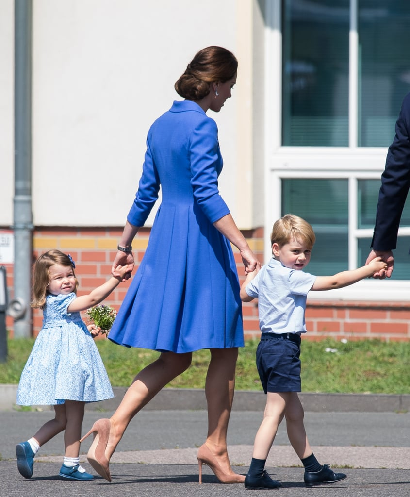 Prince George and Princess Charlotte have only been on the planet a handful of years, but they've already got this royal tour thing down pat. The British royal family is currently in the middle of their official visits to Poland and Germany, and not only has Charlotte proven that she can rock the hell out of her Uncle Harry's hand-me-down shoes, but she also had a very big milestone: her first diplomatic handshake. George, on the other hand, has shown off his adorable curiosity by peeking out of airplane windows, and we even got a glimpse of his signature unimpressed face when he touched down in Berlin on Wednesday. At this rate, we're expecting many more sweet moments in the days to come.      Related:                                                                                                           The Special Way Will and Kate Honoured the Queen During Their Polish Tour