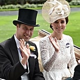 The pair waved to the crowd at the Royal Ascot at Ascot Racecourse in June.