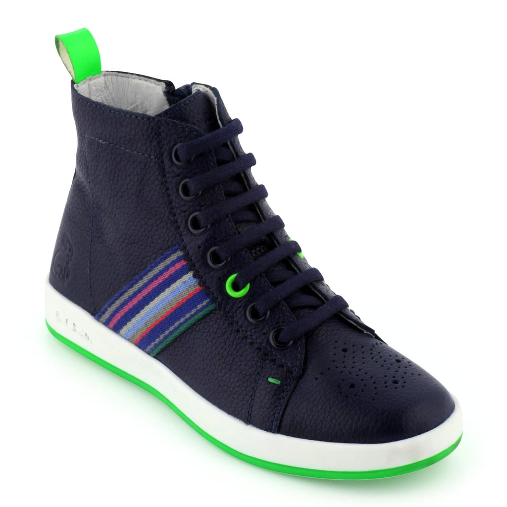 Paul Smith Junior Navy Leather High Tops