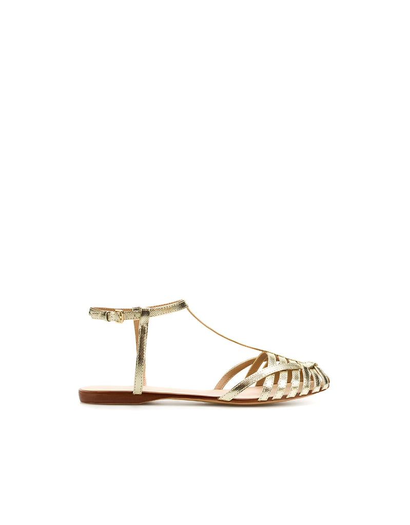 These gilded sandals put a sophisticated spin on the jellies we loved growing up.