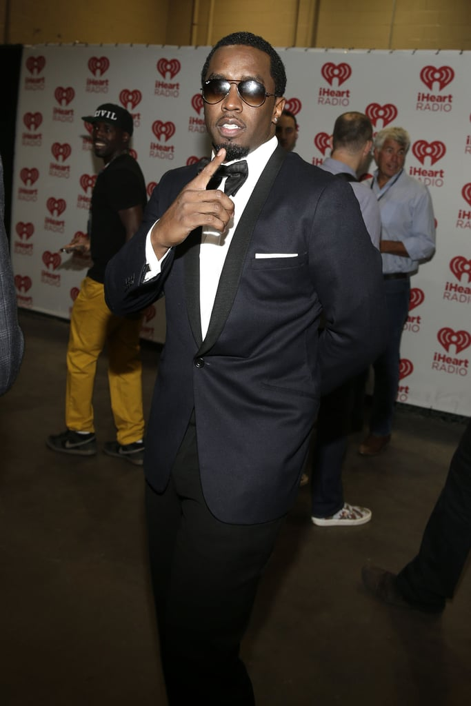 Diddy wore a tuxedo.