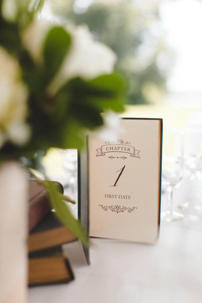 Showcase a literary centerpiece at each table.