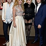 Madonna posed with The Band Perry backstage.