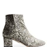 Aquazzura Baroque Embossed Velvet Ankle Boots ($825)
