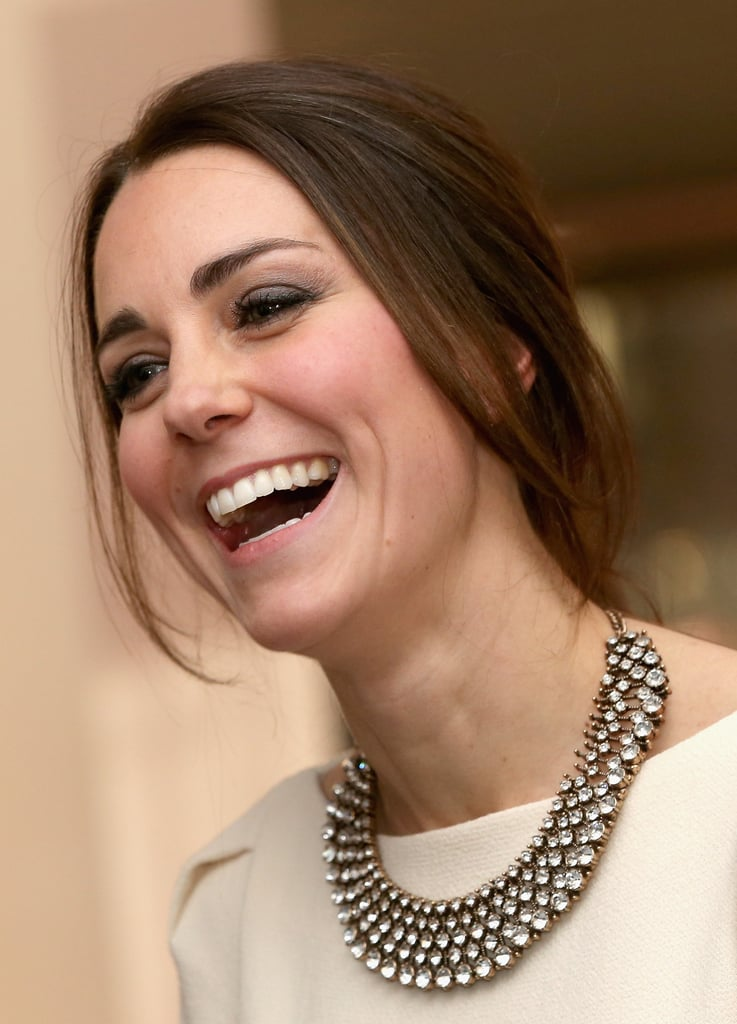 She wore a $30 Zara necklace to the Royal Gala Premiere of Mandela: Long Walk To Freedom.
