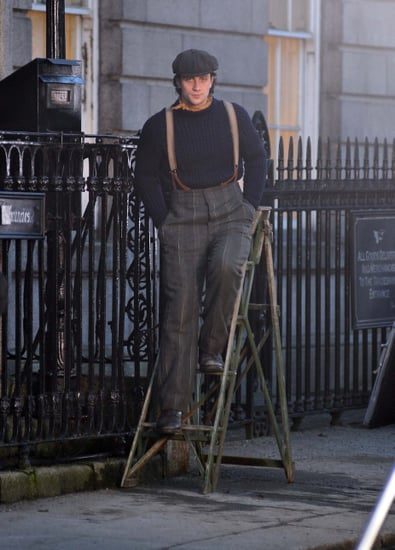 Pictures of Aaron Johnson and Glenn Close on Set of Albert Nobbs