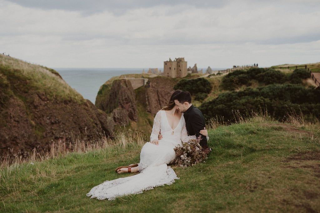 Elopement Shoot at Dunnottar Castle in Scotland