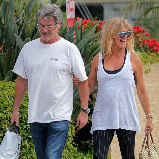 Kurt Russell and Goldie Hawn Walking in LA Pictures