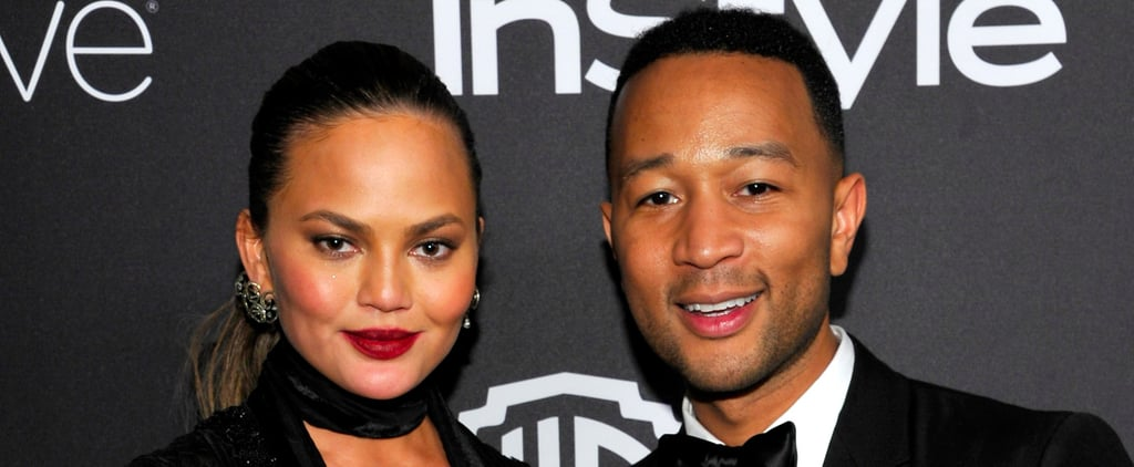 John Legend and Chrissy Teigen Switch Up Their Looks For a Golden Globes Afterparty