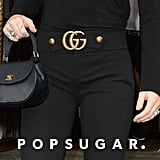 Miley Cyrus Wearing All Black With Gucci Pants in London