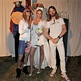 Adam Levine, Anne Vyalitsyna, and James Valentine got in the Halloween spirit in 2011.