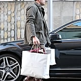 Ben Affleck had his hands full after a shopping trip in Beverly Hills.
