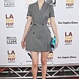 Krysten Ritter pulled out a double-breasted dress for the Los Angeles Film Festival.