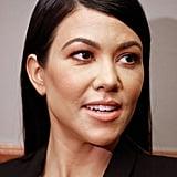 Kourtney Kardashian with a Deep Side Part 2018