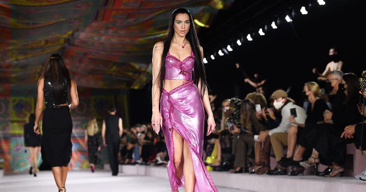 Add It to Her Résumé! Dua Lipa Made Her Runway Debut During Versace's Fashion Week Show.jpg