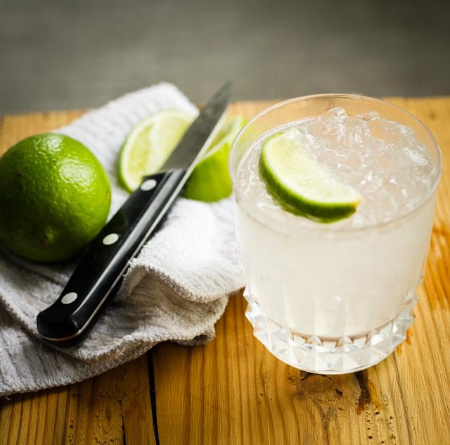 Caipirinha's sibling, the caipiroska, is made with the more accessible vodka, lime, and simple syrup.