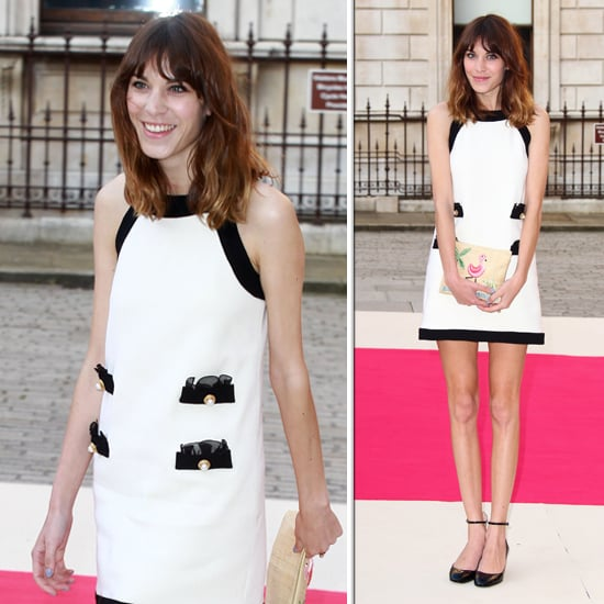 Alexa Chung Wears Moschino in London