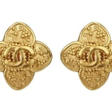 Vintage Chanel Clover Grapevine and Logo Earrings ($325)