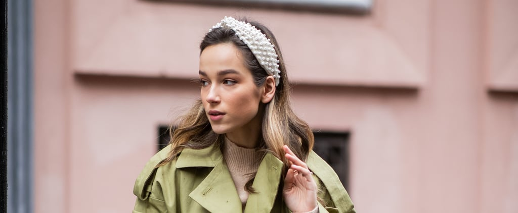 White Pearl Headband Hairstyle Inspiration