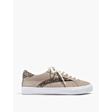 Low-Top Sneakers in Glitter-Accented Suede
