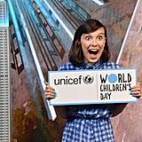 Millie Bobby Brown in New York on World Children's Day in 2018