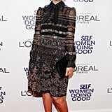 Jessica Alba received an honor at the Self magazine Women Doing Good Awards in NYC.
