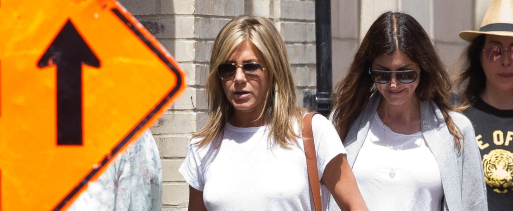 Jennifer Aniston Wearing Dr. Scholl's Sandals