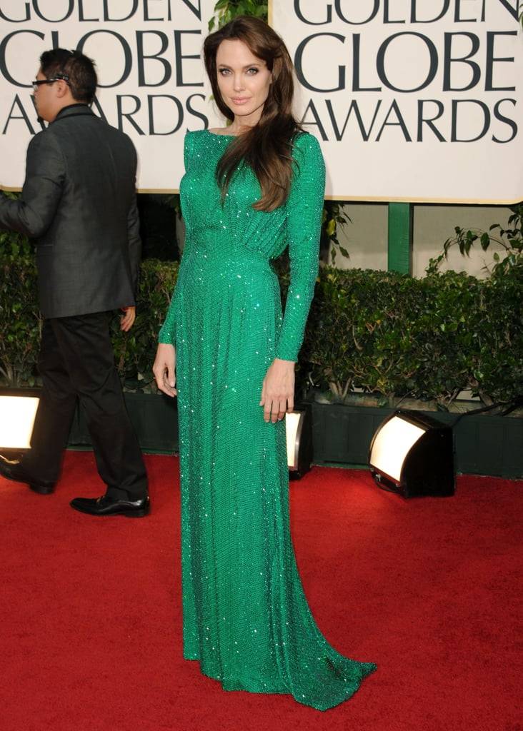 Green took on a a new meaning for us when Angelina Jolie stepped out in this Versace number.