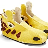 Yellow Wool Giraffe Slipper ($45)