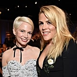 Michelle Williams and Busy Philipps at 2017 Golden Globes