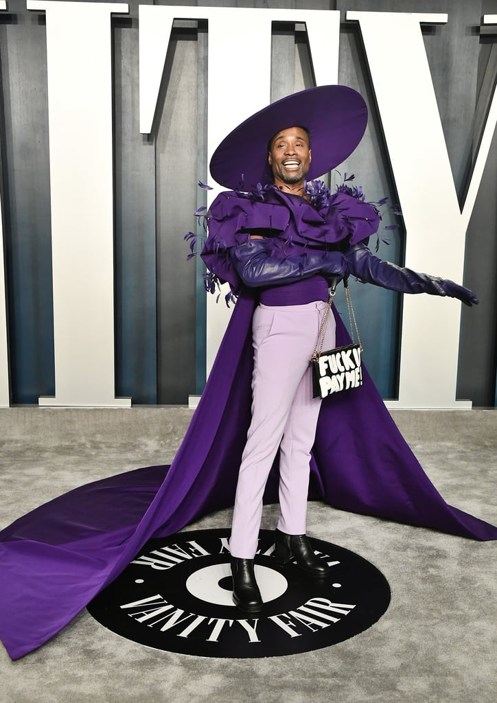 Billy Porter's Purple Outfit at the Oscars Afterparty 2020