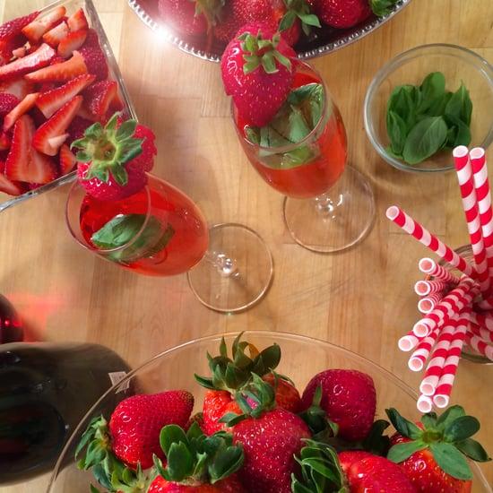 Strawberry Kir Royale
