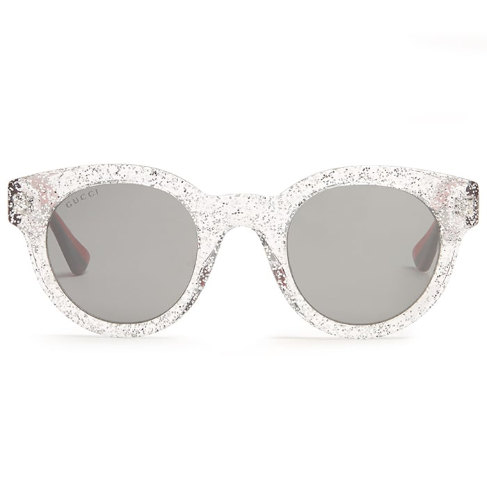 Gucci Glittered Round-Frame Sunglasses ($229)