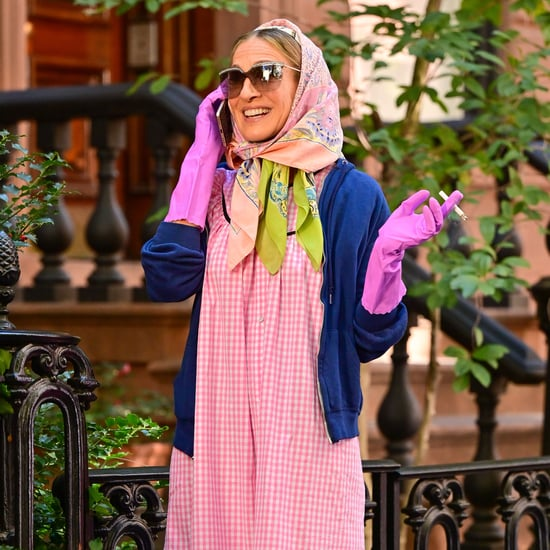 Carrie Bradshaw's Pink Gingham Dress From And Just Like That